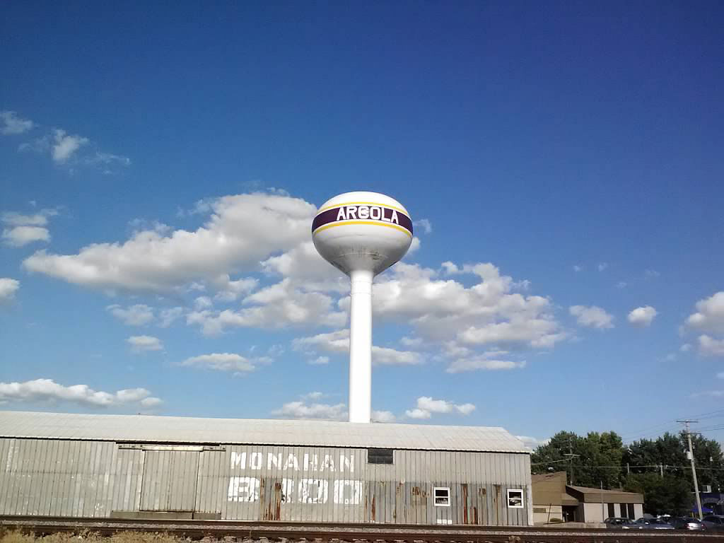 Arcola water tower